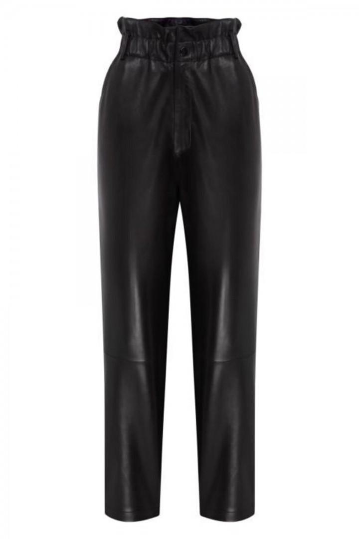 Bella Yüksek Bel Havuç Deri Pantalon